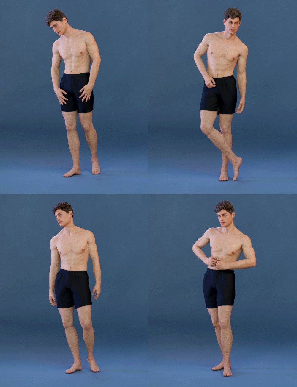 Capsces Model Poses For Genesis 8 Male And Michael 8 3d Models