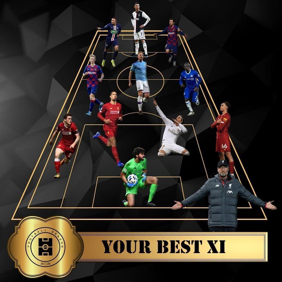 After two weeks of surveys, this is your 'best XI'❗ Is good enough❓⚽🔥 ➖ #football #soccer #champions #futbol #sports #sport #fifa #best #premierleague #like #messi #championsleague #follow #futebol #ronaldo #BestXI #love #seriea #juventus #nike #goal #barcelona #realmadrid #season #photooftheday #bestoftheworld #instagram #fussball #picoftheday #bhfyp