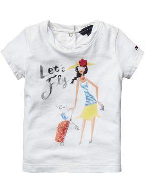 c975c19f3 Tommy Hilfiger Toddler girl rosa t-shirt White - House of Fraser ...