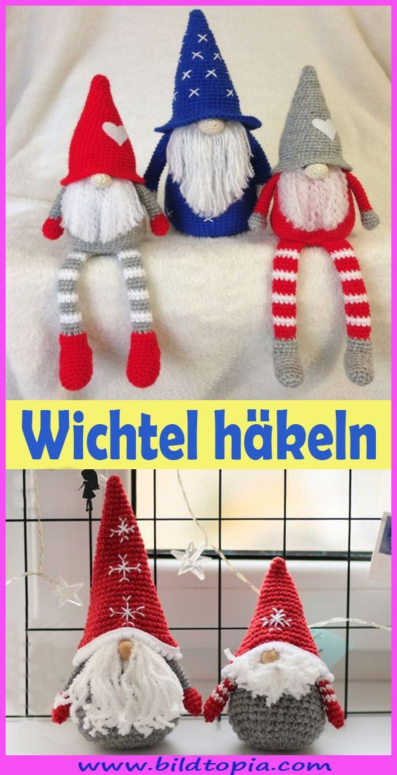 Photo of Häkeln Sie Amigurumi Christmas Gnomes – Free To – Kleiner Balkon Ideen