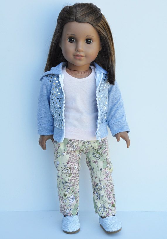 American Girl Clothes  Silver Hoody with by LoriLizGirlsandDolls, $32.00