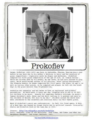 Introducing Composer Study Prokofiev & Peter and the Wolf