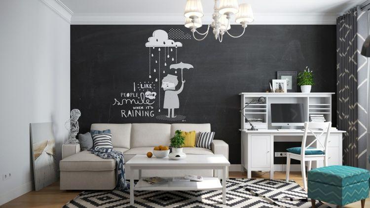 Decoracion paredes y más ideas para el diseño del salón   Salón ...