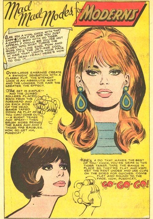 vintagefashionandbeauty:  Mod hair tutorial, c. 1967. (♥)
