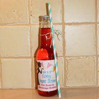 Soda Bottle Straws Aqua