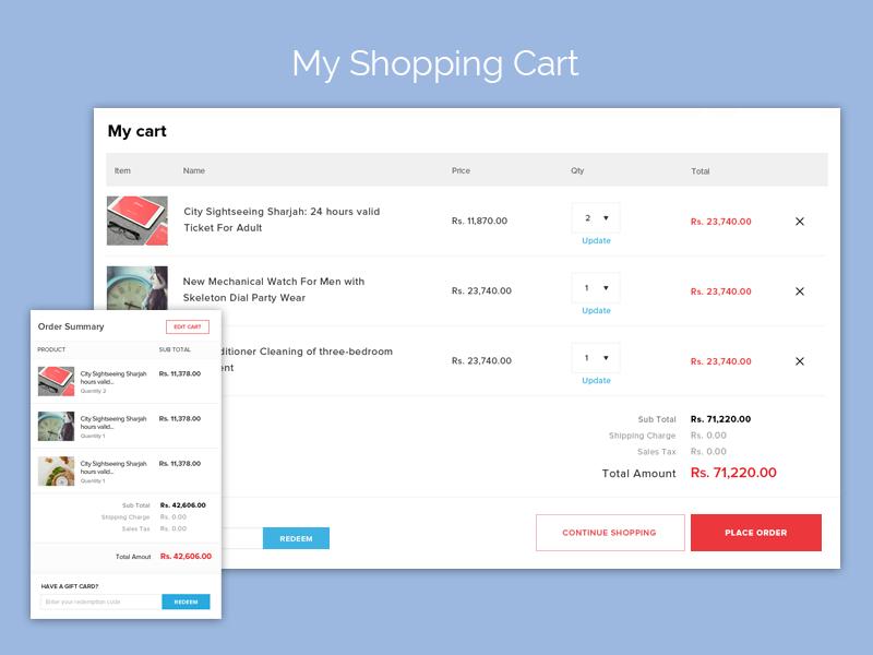 Shopping Cart Order Summary Shopping Cart Shopping Summary