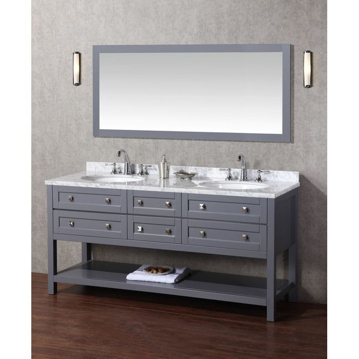"Dcor Design 72"" Double Modern Bathroom Vanity Set With Mirror Gorgeous Bathroom Cabinet Reviews Design Inspiration"