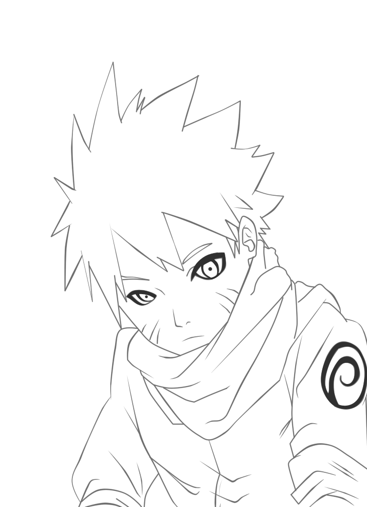Naruto Line Art By Madnesssss On Deviantart With Images Naruto