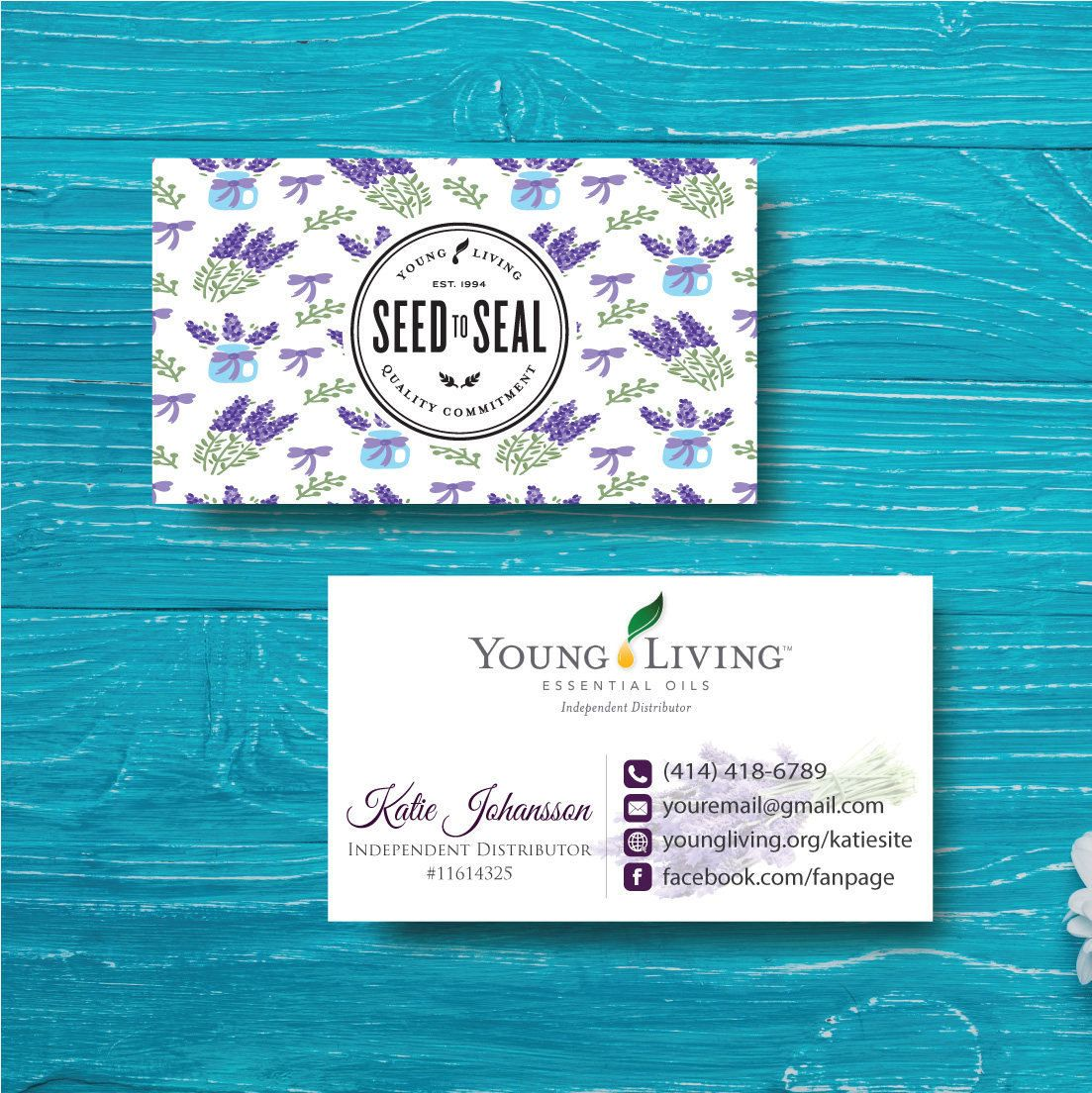Young Living Business Card, Custom Young Living Card, Fast Free ...