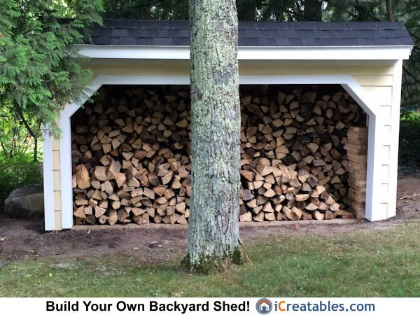 Picture Of This 4x12 Firewood Shed Were Sent To Us From Leland, Michigan.  These