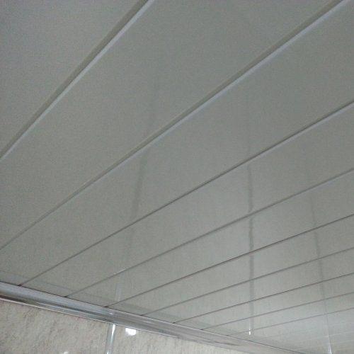 Bathroom Ceiling Tiles Panels: Twin White Gloss PVC Ceiling Cladding Panels