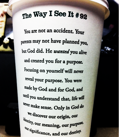 """You are not an accident."" The Way I See It #92"