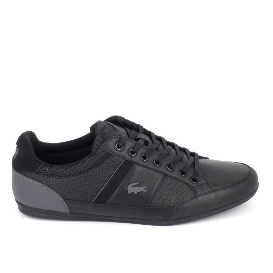 ad7dbd13ae LACOSTE Chaymon 3161 Cam Noir Gris   LACOSTE   Lacoste shoes ...