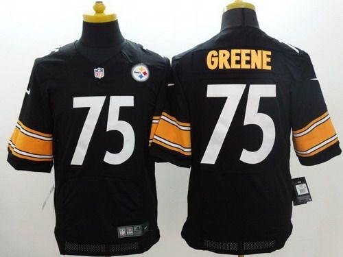 2edc222be4d Nike Pittsburgh Steelers  75 Joe Greene Black Elite Jersey ...