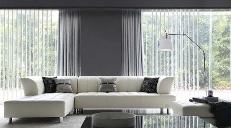 V2335 - White Bonded Leather Sectional Sofa Eurolux $1850