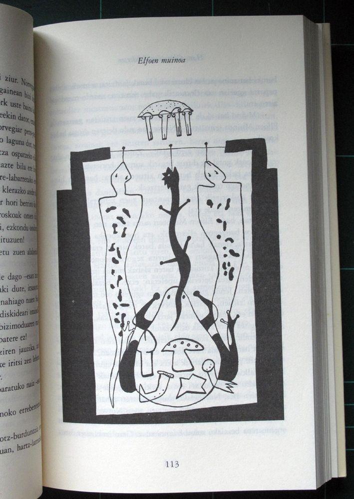 "Dibujo para ilustrar el libro ""Hemeretzi ipuin"" de Andersen. 1997. Juan Azpeitia."