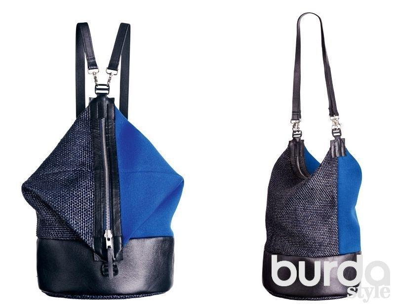 DIY y patrón de Bolso mochila dúo | fácil costura | 가방 y 신발