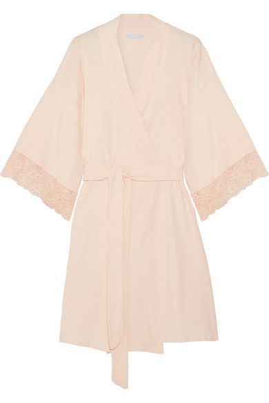 WILL YOU BE MY BRIDESMAID: What better way to pop the question than with Eberjey's softest 'Zelia' robe, available in a playful pink.