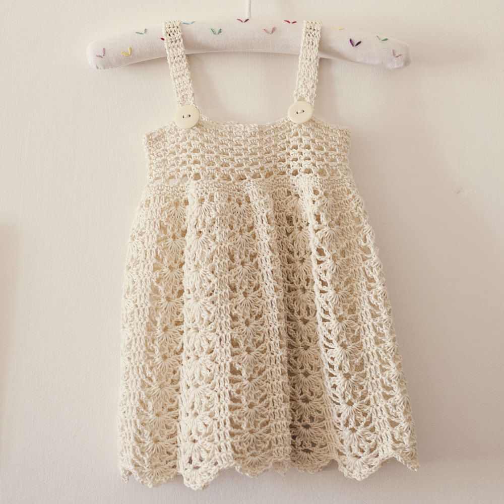 Crochet dress PATTERN - Sarafan Dress (sizes up to 5 years ...