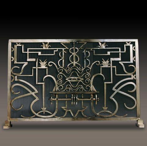 Hand Forged Fireplace Screens Kramer Design Studio Custom And Fabrication Of Fine Art Deco