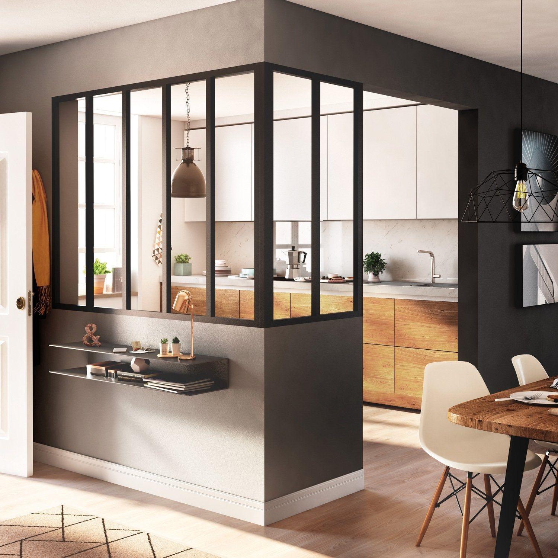 Epingle Par Rosine Giri Sur Appartement En 2020 Cuisine Verriere Cuisine Fermee Separation Cuisine Salon