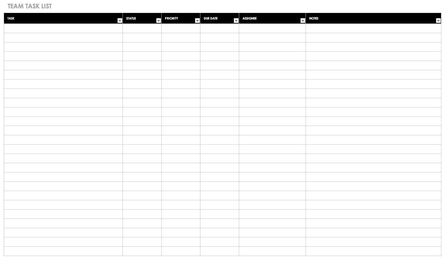 30 Free Task And Checklist Templates Smartsheet Regarding Blank Checklist Template Word Great Cretive Checklist Template Smartsheet Meeting Notes Template