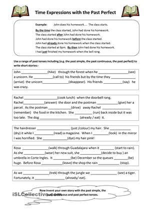 past perfect exercises pdf printable