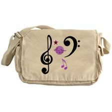 Moondreams Music Notes Messenger Bag by #MoonDreamsMusic #MessengerBag #MusicNotes