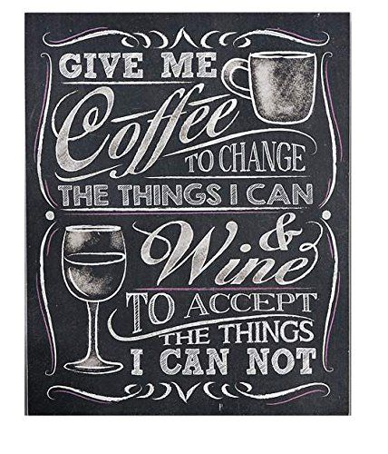 Gift Craft Give Me Coffee Wall Sign Chalkboard Coffee Chalkboard