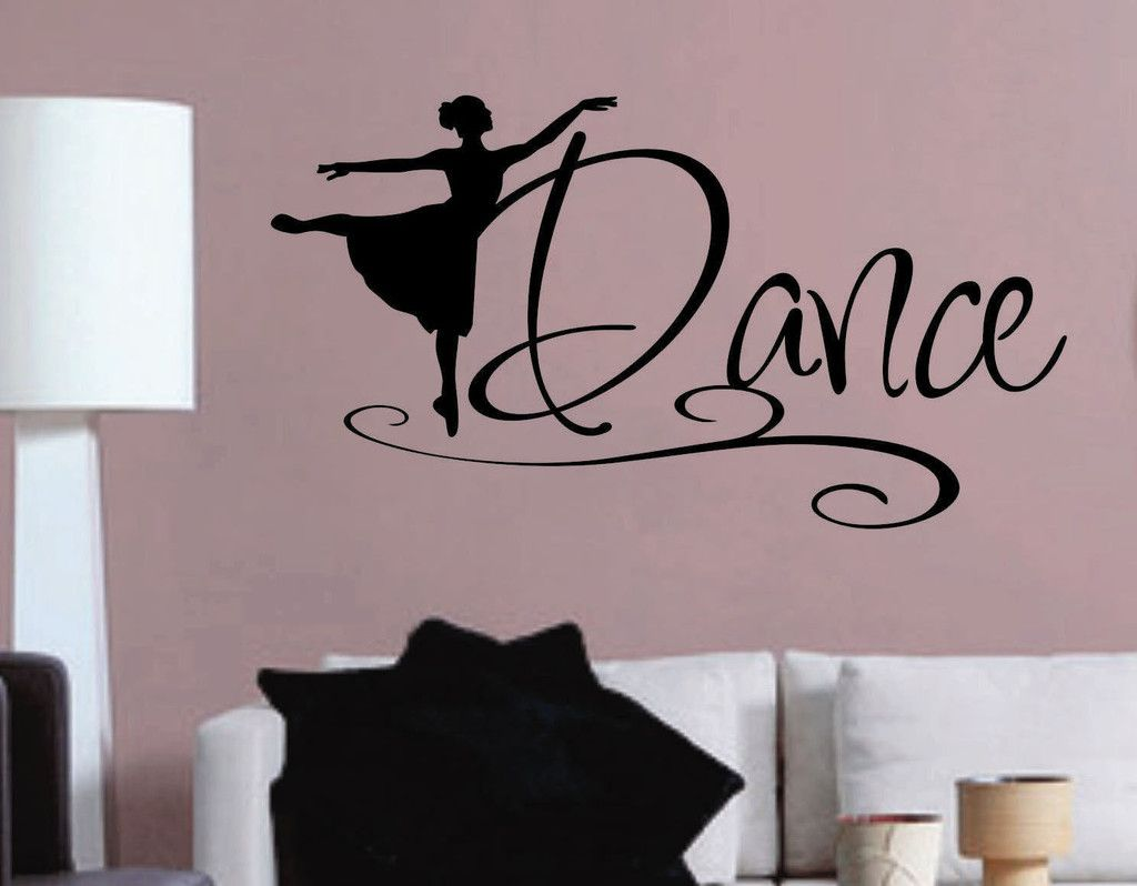 vinyl wall lettering dance girl art decal quotes sell any dance ballerina silhouette decal vinyl wall lettering wall quotes
