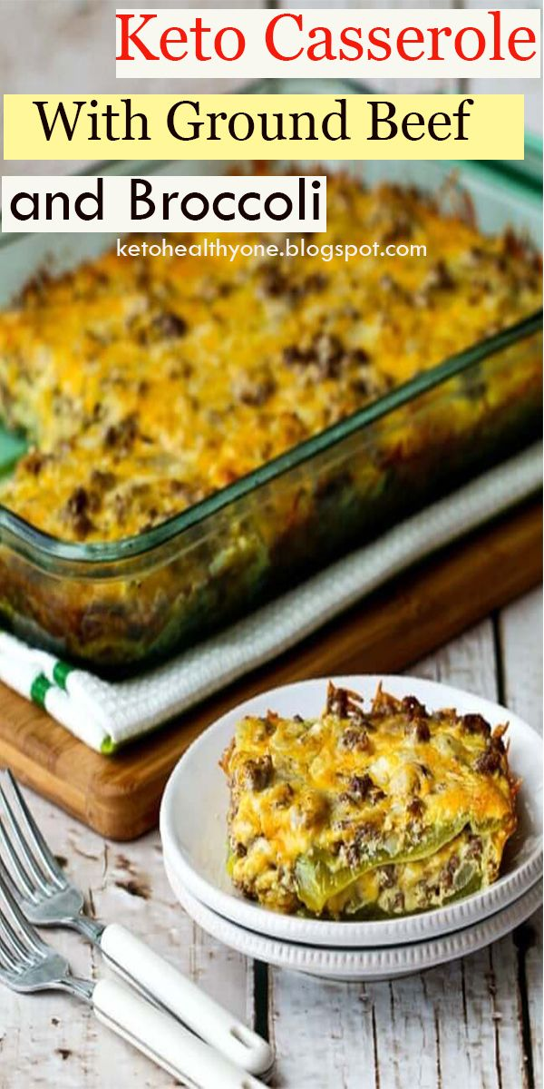 Keto Casserole With Ground Beef and Broccoli