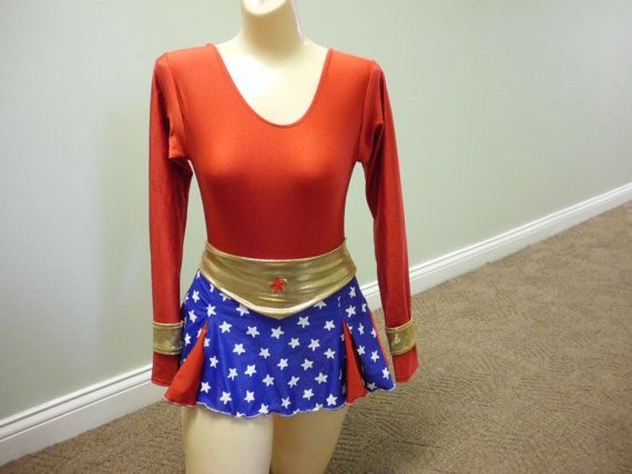 Wonder Woman Long-Sleeve Dress