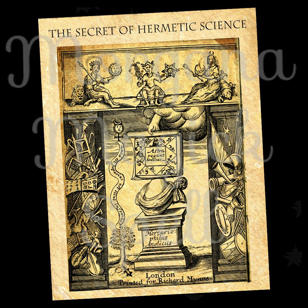 HERMETIC SCIENCE, Alchemy, Instant Download, Ancient Parchment, Mythological, Clip Art, Digital Download, Occult Book of Shadows Page by MorganaMagickSpell on Etsy