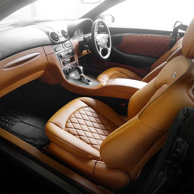 diamond stitch bespoke amg interior mercedes benz clk brown tan auto addiction interiors. Black Bedroom Furniture Sets. Home Design Ideas