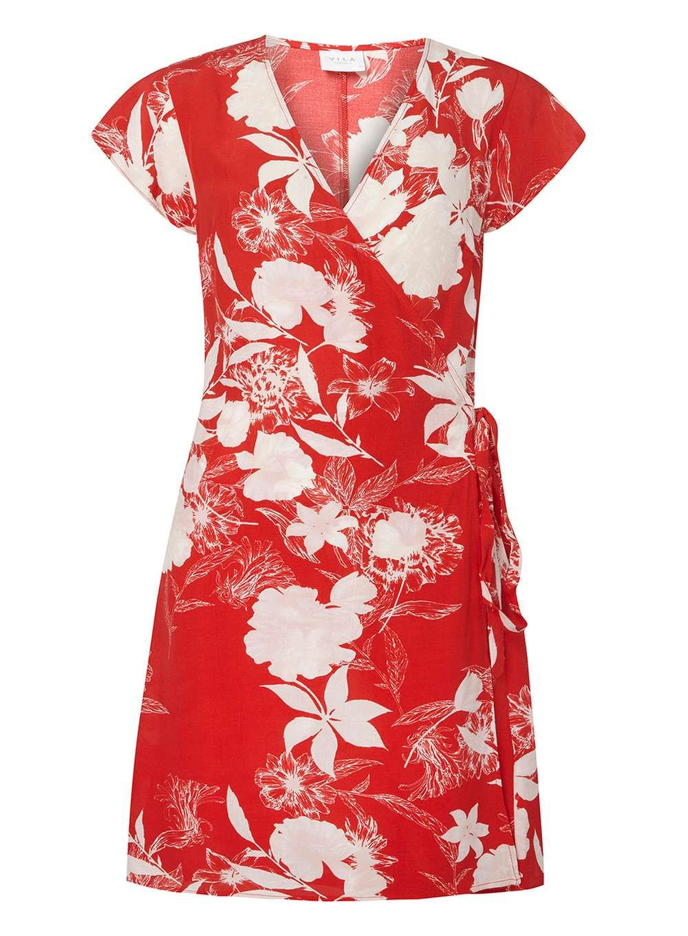 Womens Red Floral Print Wrap Dress Dorothy Perkins uIcbAvQOA