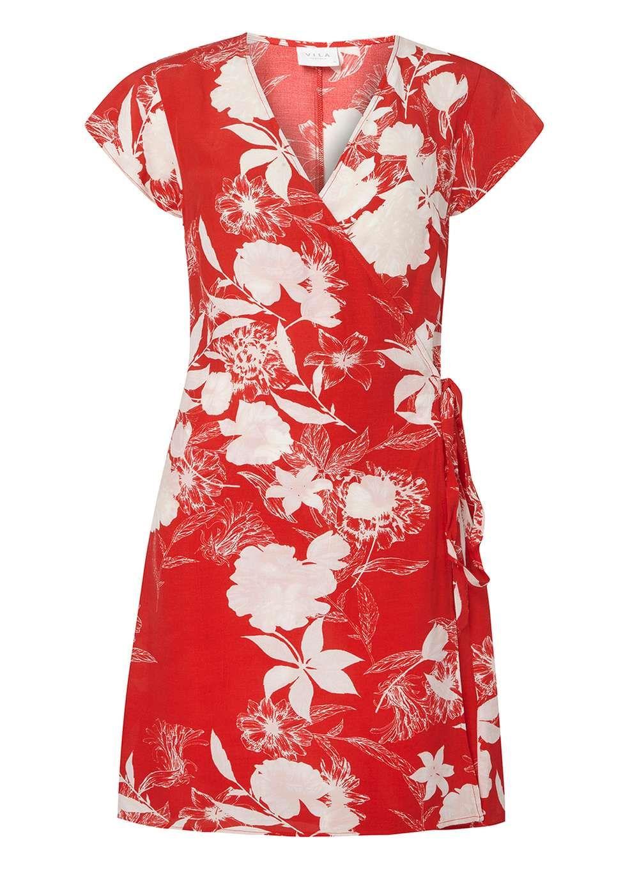 Womens Red Floral Print Wrap Dress Dorothy Perkins uIcbAvQOA