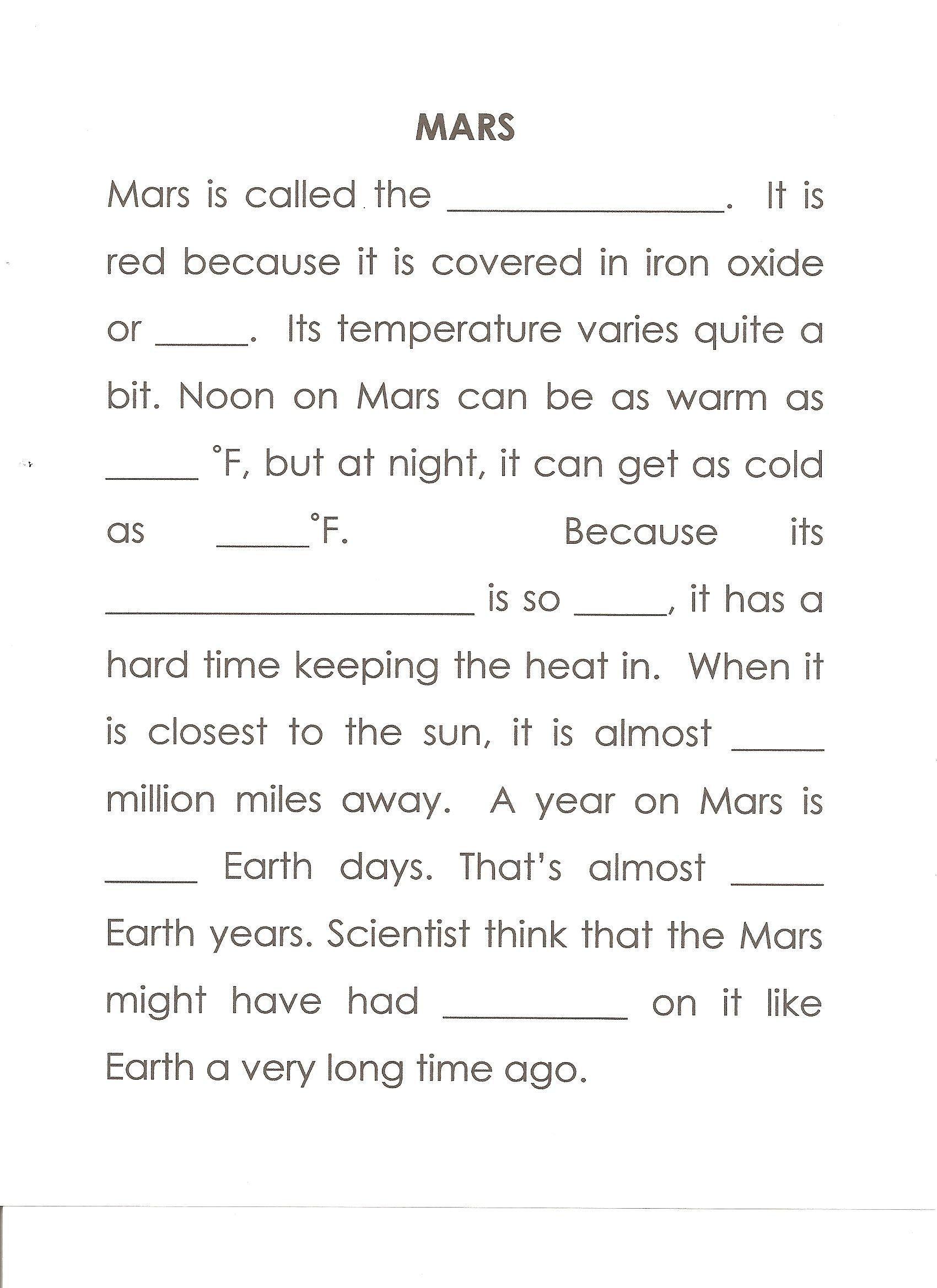 Properties Of Water Worksheet Biology Mars Worksheet