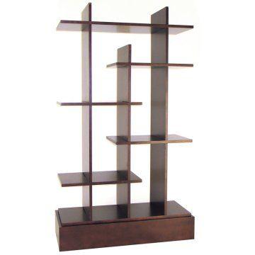 419 98 Walnut Finish Birch Plywood 37 W X 14 D X 63 H Modern Shelving Wall Shelving Units Bookcase Decor