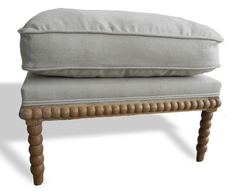 Spool Ottoman Linen Down Spool Chair Furniture Ottoman