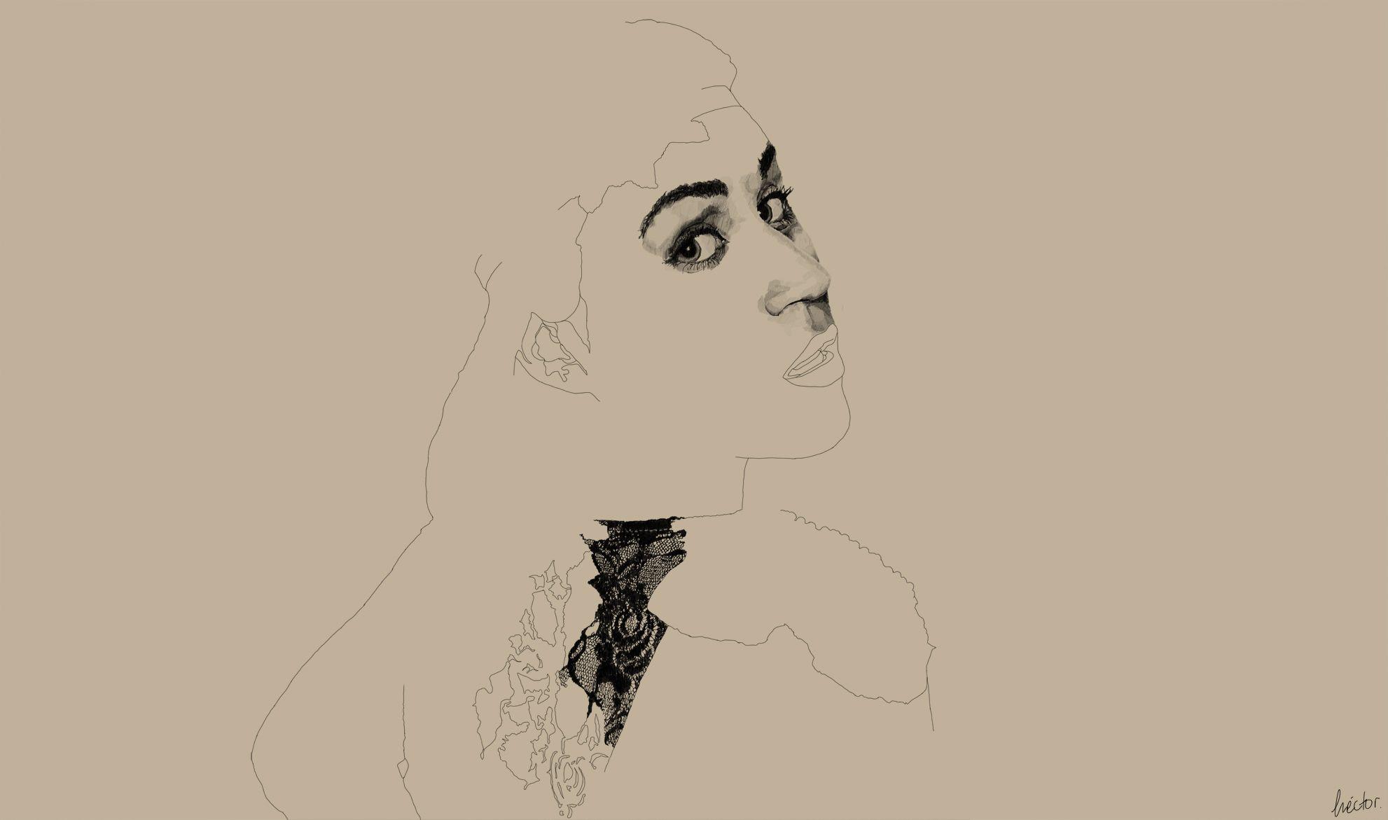 Sara. Tableta gráfica. | Héctor Torres | #graphic #tablet #art #portrait #retratos #arte