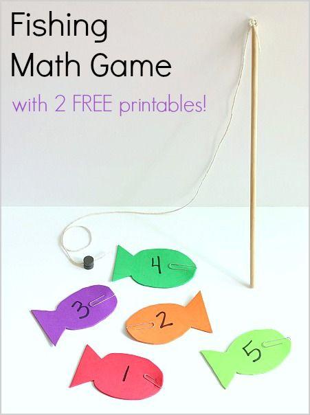 math worksheet : fishing math game with free printables  free printables math and  : Math Games For Kindergarten Kids