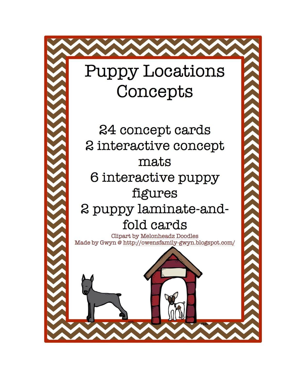Preschool Printables Free Puppy Locations Concepts