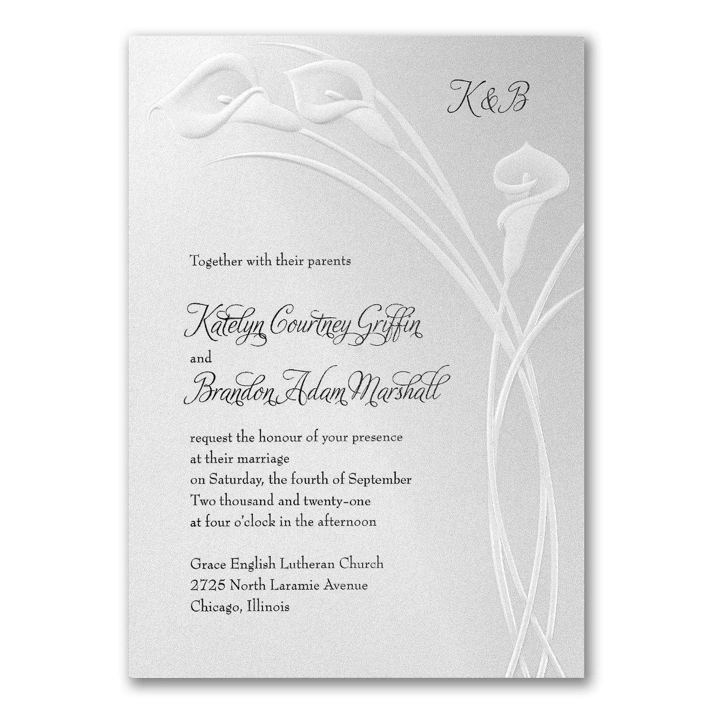 Classic Callas - Invitation | Wedding Invitations | Pinterest | Ink ...