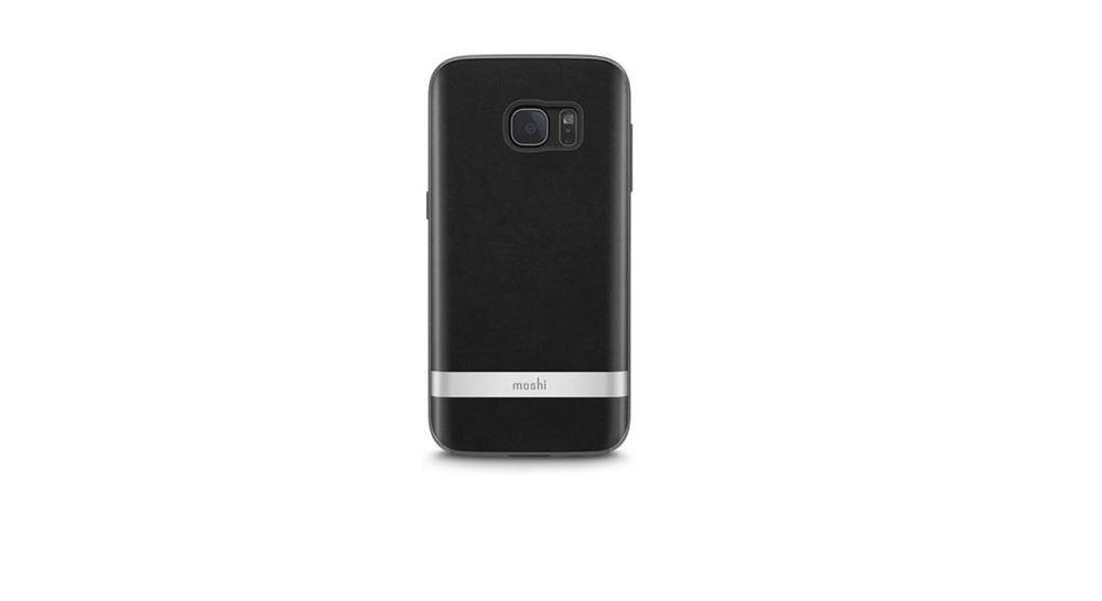 Moshi Iglaze Napa Cover Samsung Galaxy S7 Schutzhulle Case Schwarz Galaxis Schutzhulle Cover