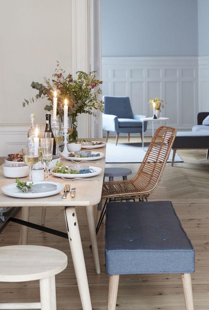 Hübsch Interior Moderner Rattenstuhl braun Rattan