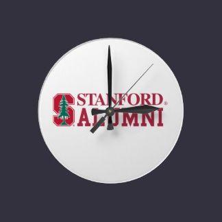 Stanford Alumni Pride Round Wall Clock