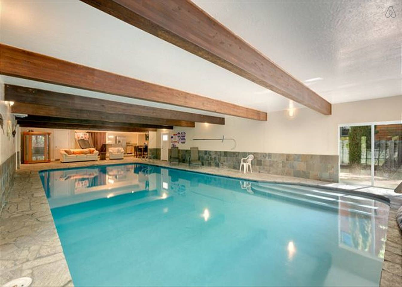 5 Br 4 Ba With Largest Indoor Pool In Zephyr Cove Vacation Home Indoor Pool House Rental