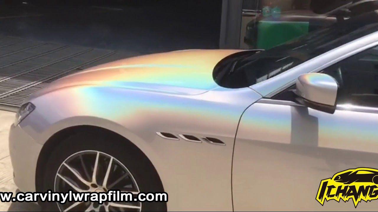 Gloss Silver Psychedelic Flip Car Wrap Vinyl Film Vinyl Wrap Car Car Wrap Vinyl Wrap