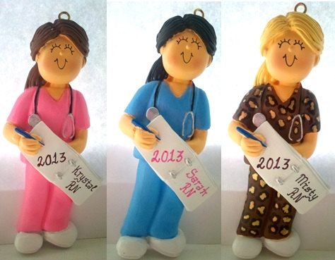 Personalized Christmas Ornament Nurse in by PersonalizeStation