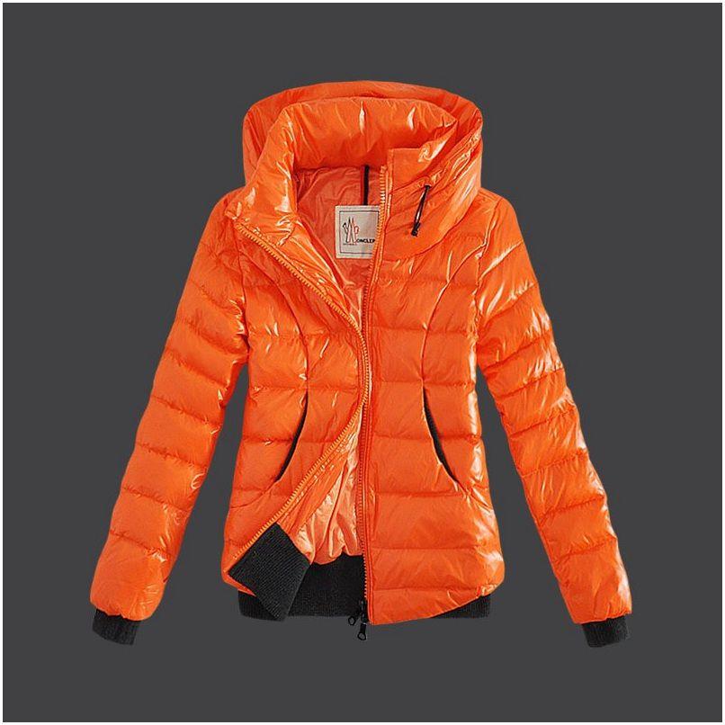 Moncler Damen Jacken Orange M1010 Moncler jacke | Jackets
